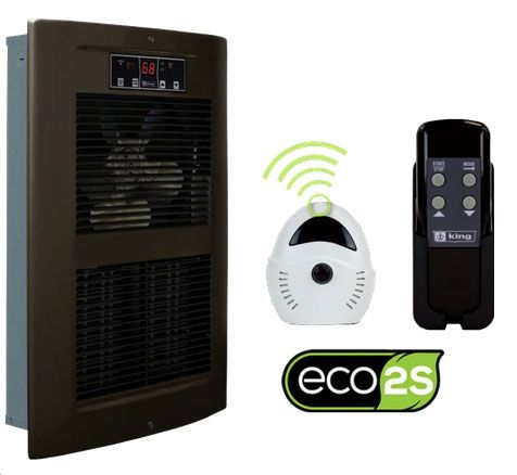 King Electric LPW ECO2S 2-Stage Smart Heater - Oiled Bronze: Made In USA
