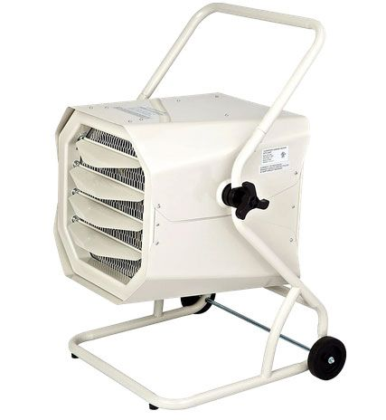 Dr. Infrared Heater 10000 Watt Hardwired Shop Garage Heater w/ Cart