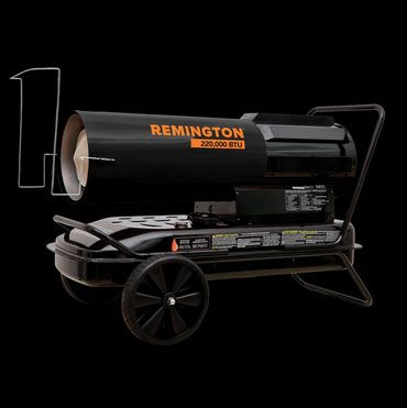 Pinnacle REM-220T-SDR-B Remington Portable Heater, Metal, Black