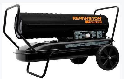 emington REM-175T-KFA-B Forced Air Radiant Kerosene Heater, 175000 BTU
