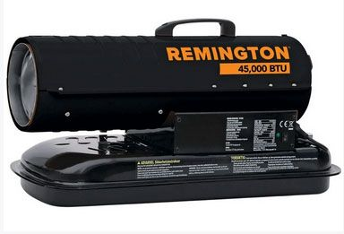Remington REM-45-KFA-B Forced Air Radiant Kerosene Heater, 45000 BTU