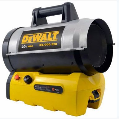 DeWalt F340661 Propane Forced Air Heater, 68000 BTU