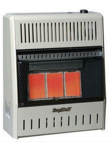 Kozy World KWN195 Vent Free Natural Gas Infrared Wall Heater, 18,000 BTU