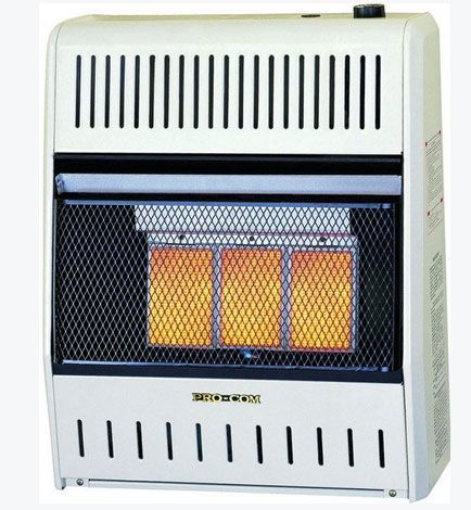Pro-Com MG2TIR Dual Natural Gas / Propane Wall Heater, White