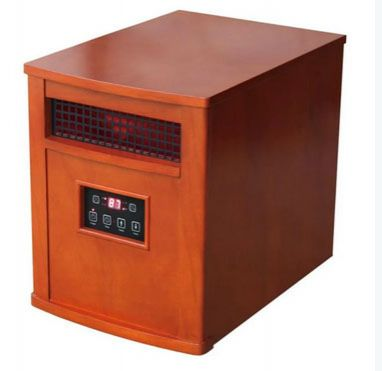 Comfort Glow QEH1500 Electric Infrared Quartz Heater, 1500 Watts, Chestnut Oak