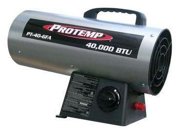 Protemp PT-40-GFA Portable Fan Forced Propane Heater, 40,000 BTU's